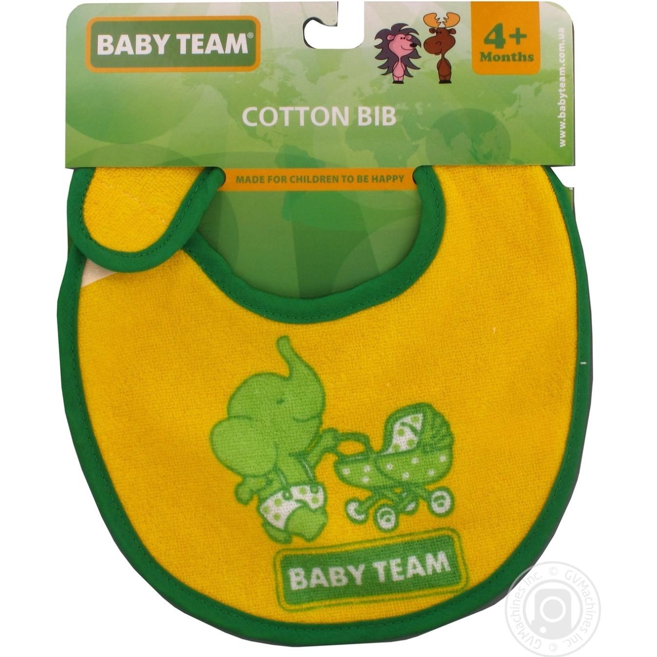 Нагрудник Baby Team на липучке