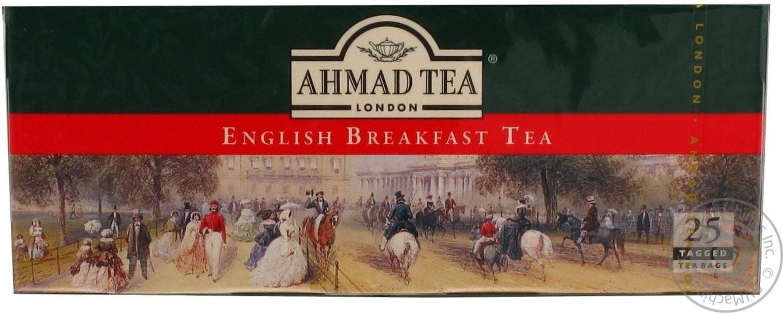 Черный чай Ахмад Английский к завтраку в пакетиках 25х2г