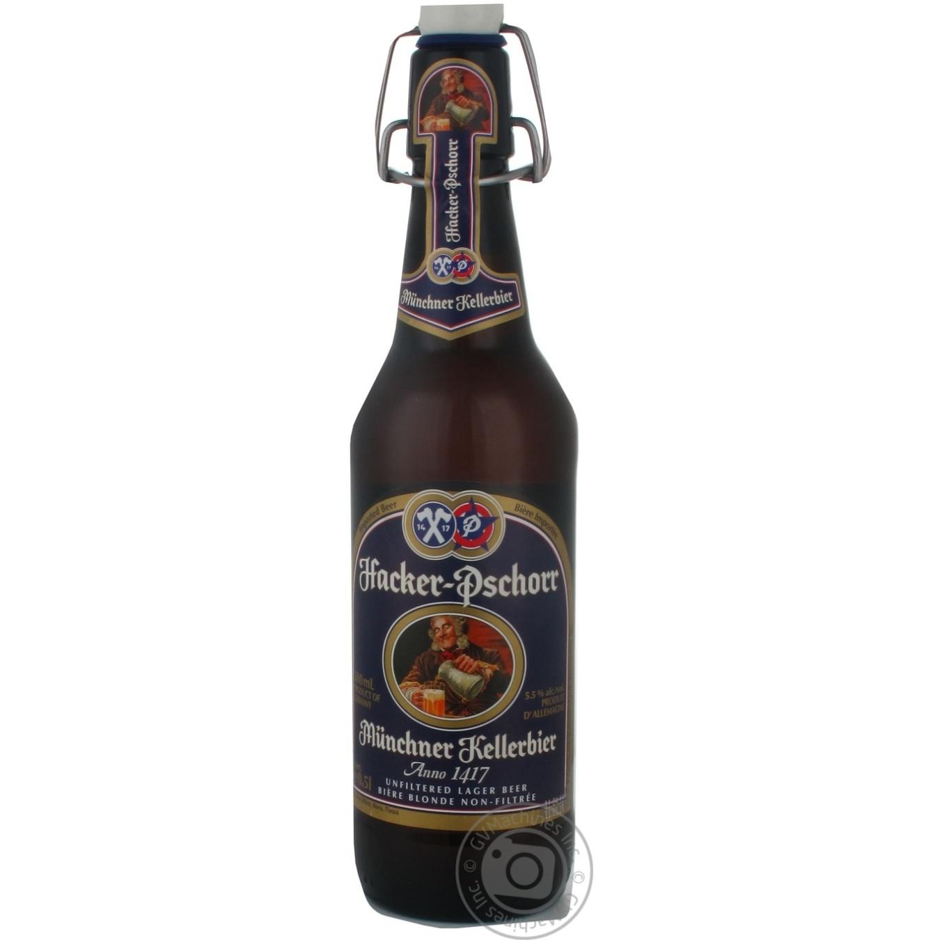 Пиво Хакер-Псхорр Анно 1417 светлое нефильтрованное пастеризованное 5.5%об. 500мл