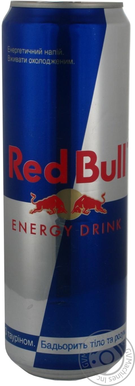 Напиток энергетический безалкогольный Ред Булл 600мл