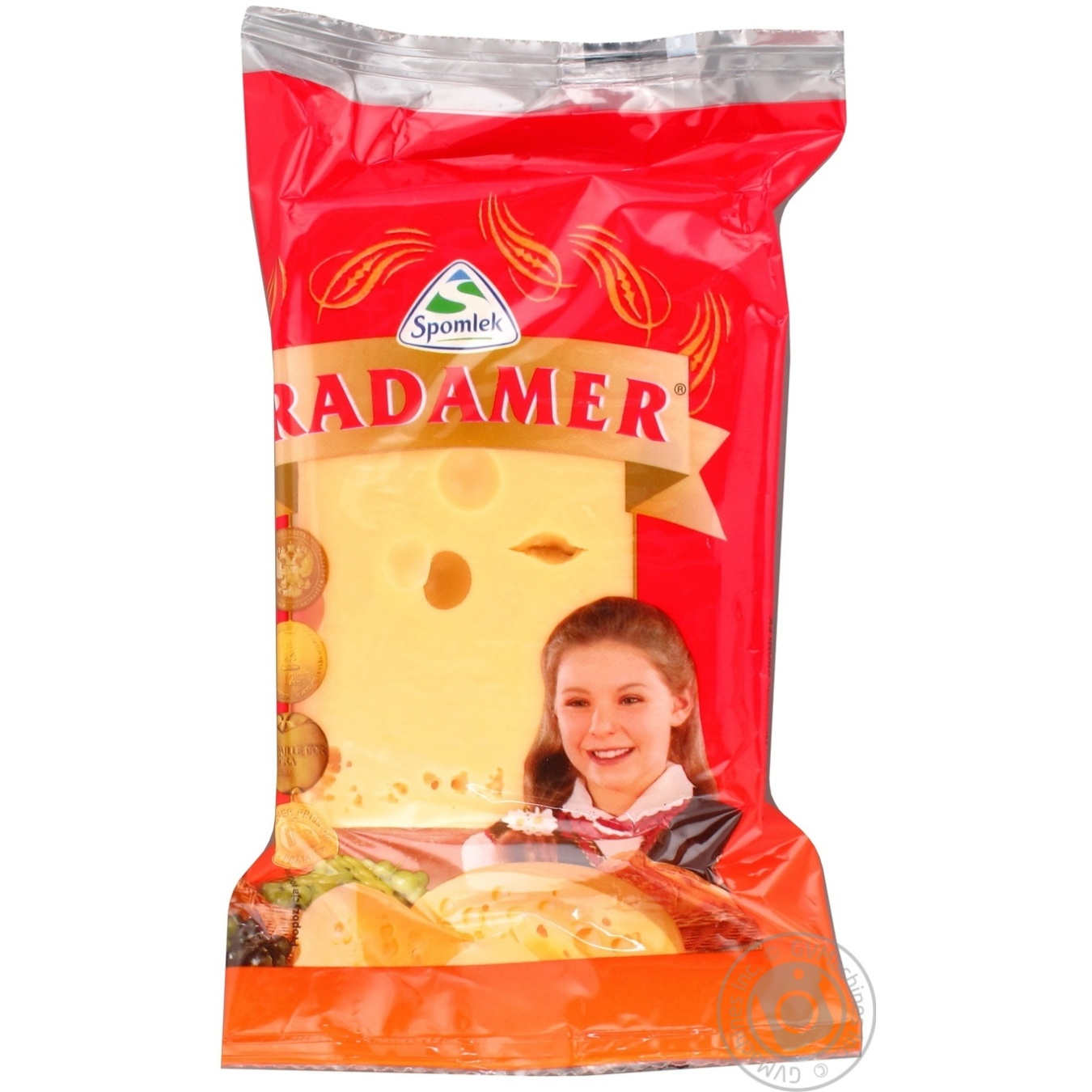 Сыр Спомлек Радомер твёрдый 45% 200г
