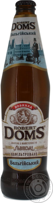 Пиво Львовское Robert Doms Бельгийский нефильтрованное 0,5л