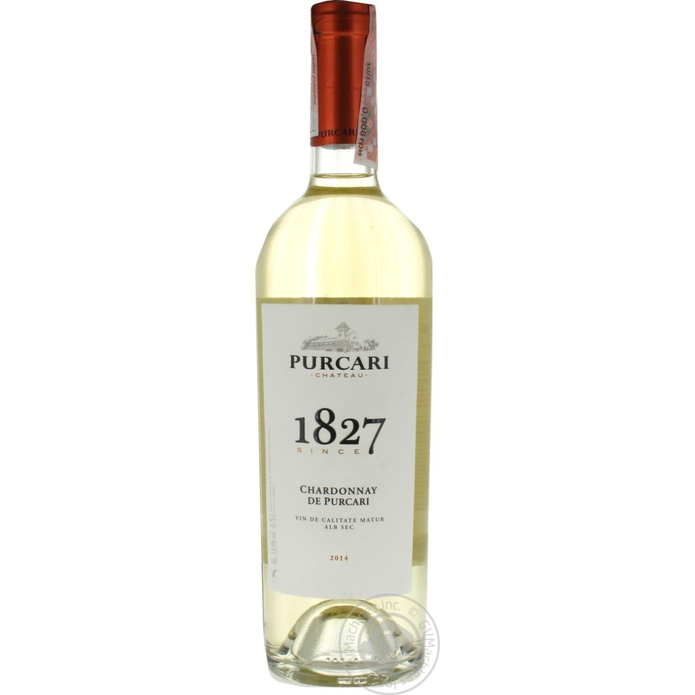 Вино белое Пуркарь Каберне Шардоне дэ Пуркарь сухое 750мл