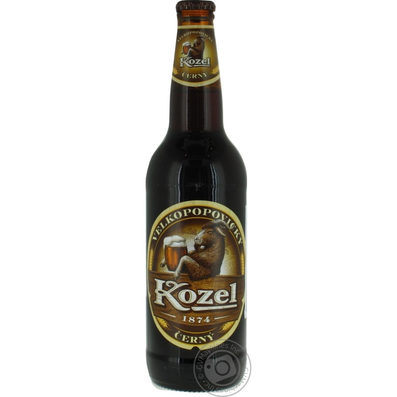 Пиво Velkopopovicky kozel темное 0,5л