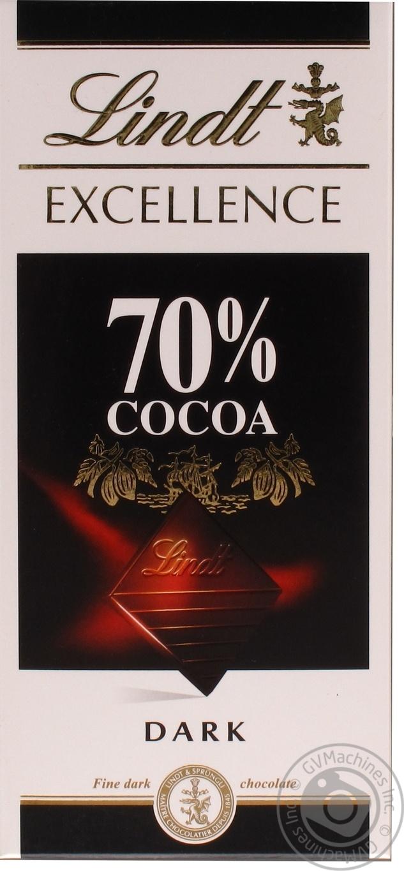 Шоколад черный Линдт Экселенс швейцарский горький в плитках 70% 100г