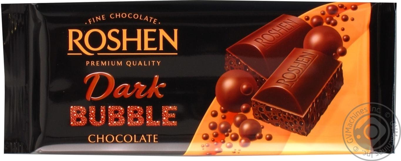 Шоколад Roshen экстрачерный пористый 85г