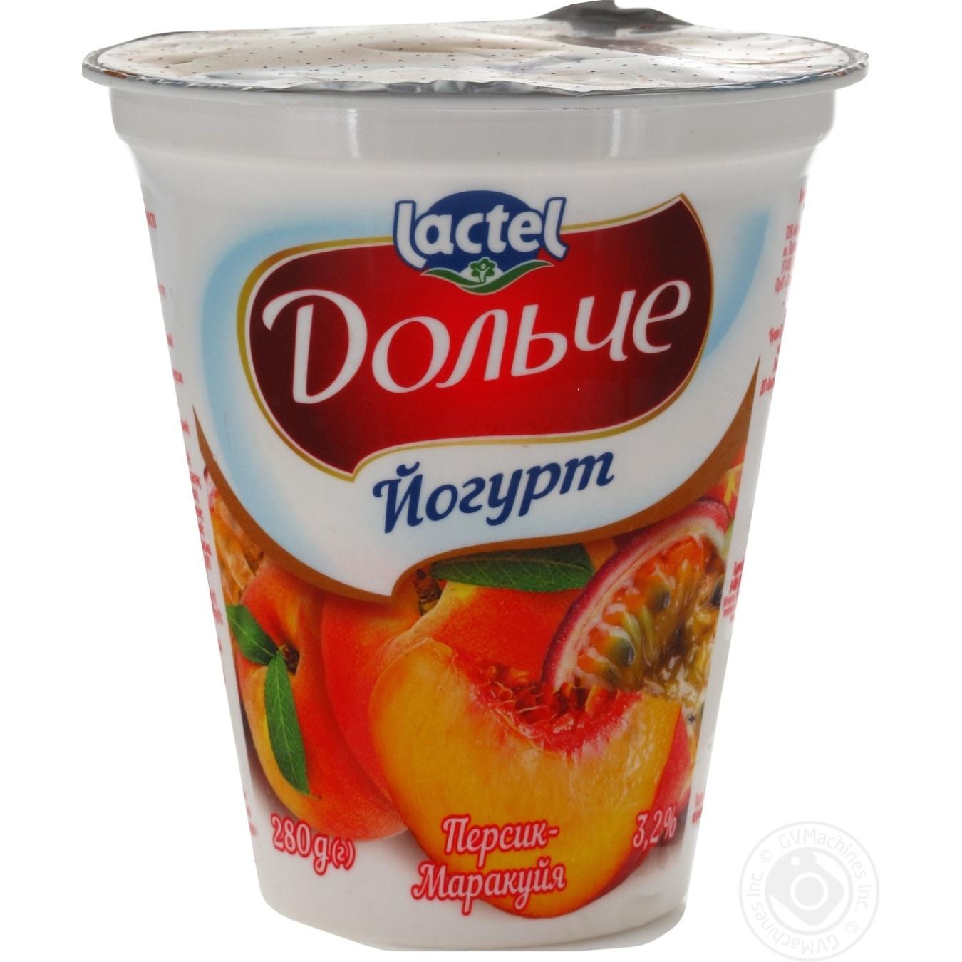DOLCE ЙОГУРТ 3,2% 280Г ПЕРСИК-МАРАКУЯ