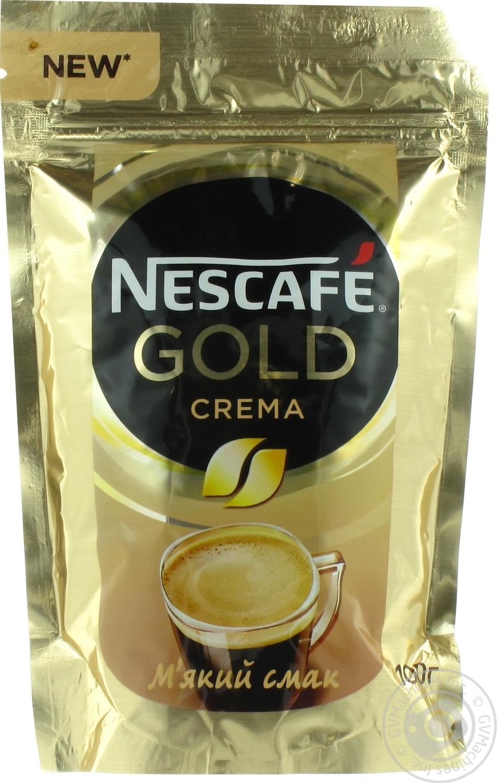 Кофе Nescafe Gold Crema растворимый 100г
