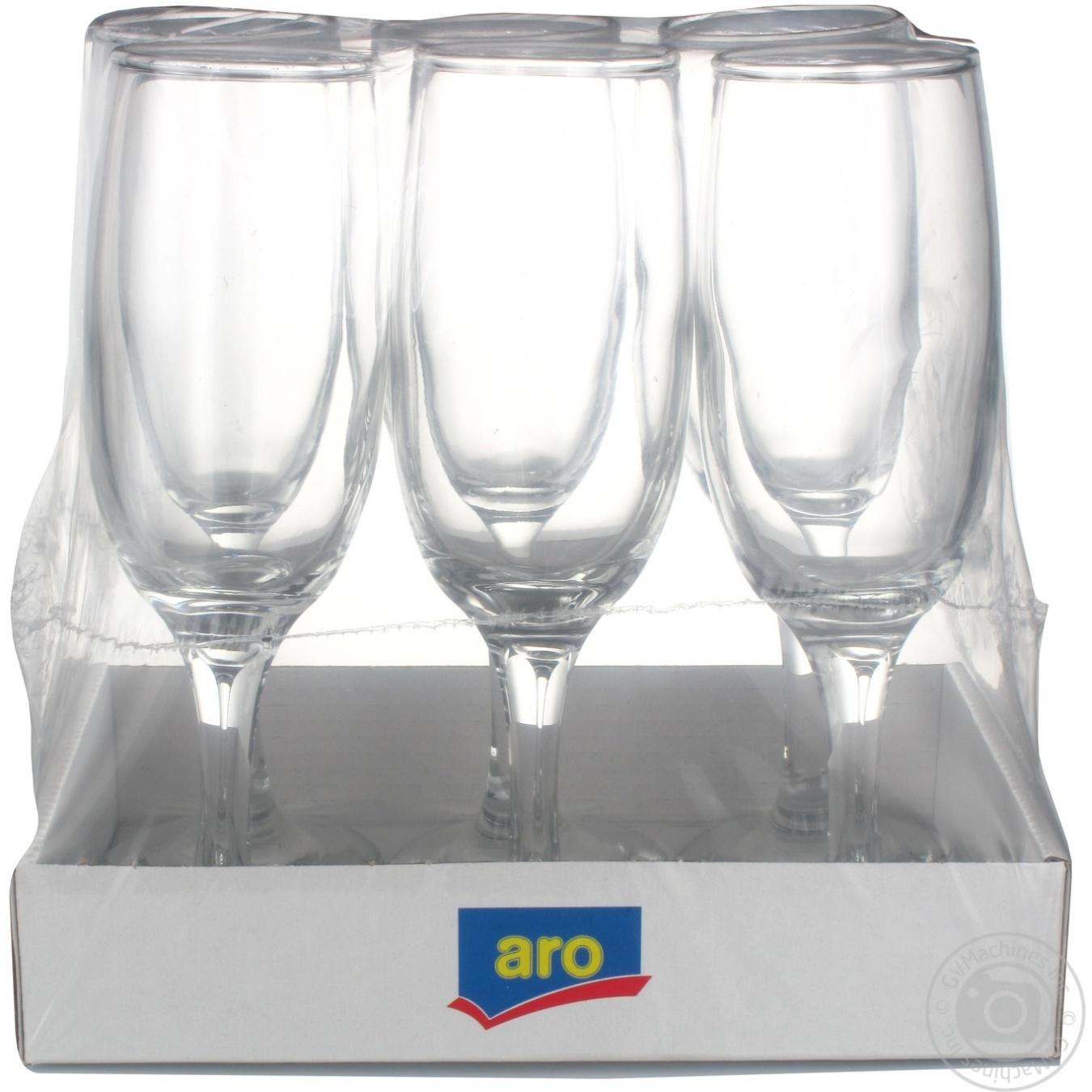 Набор бокалов Aro для шампанского 185мл 6шт
