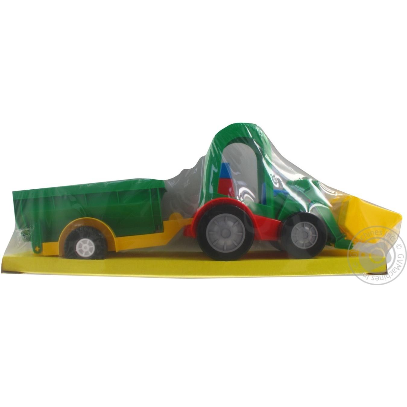 Игрушка трактор-багги с ковшом и прицепом