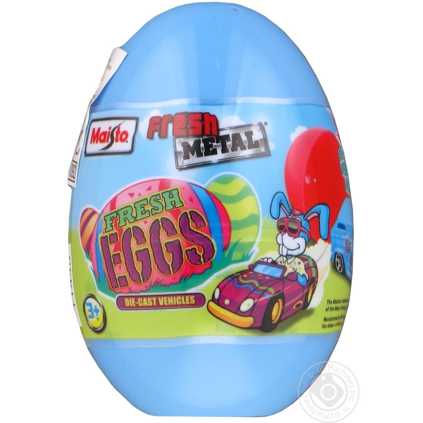Игрушка Maisto Машинка пластиковая в яйце
