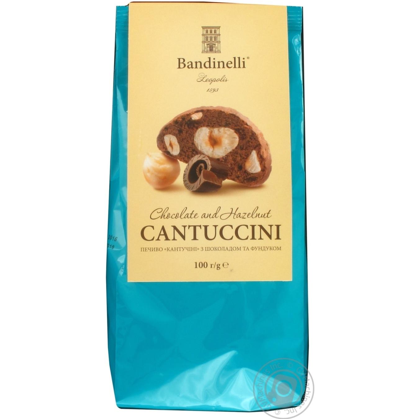 Печенье Bandinelli Cantuccini с шоколадом и фундуком 100г