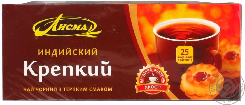 Чай чёрный Лисма Индийский Крепкий байховый в пакетиках 25х1,8г