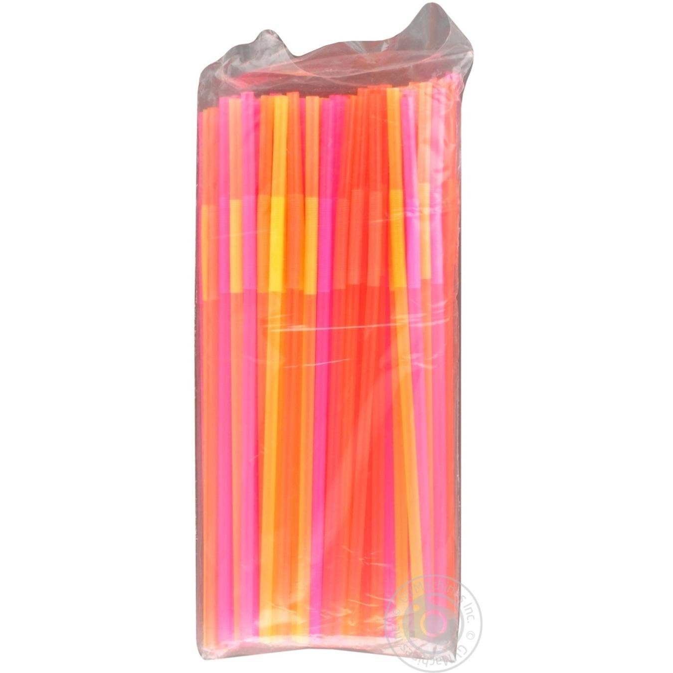 Соломка с длинной гофрой люминисцентная 210*5мм 100шт