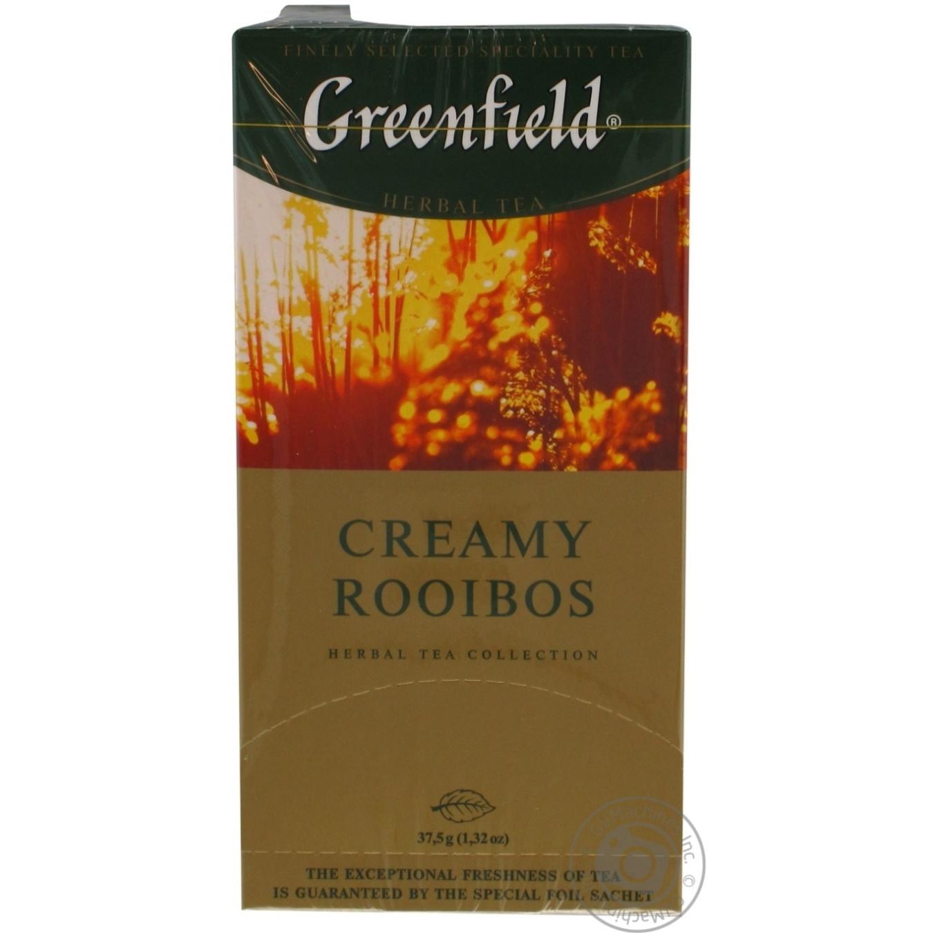 Чай Гринфилд Крими Ройбош травяной со вкусом и ароматом апельсина и ванили 1,5г х 25шт