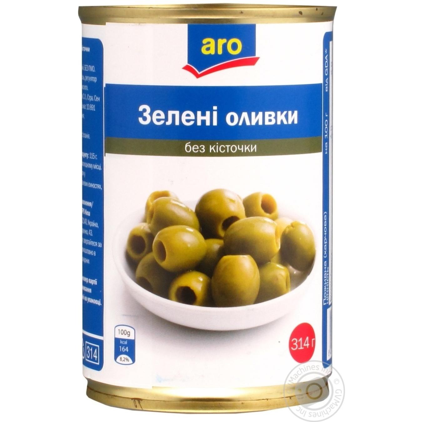 Оливки зеленые Aro без косточки 314г