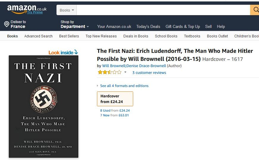 The First Nazi Erich Ludendorff By Brownell Books And Book Reviews