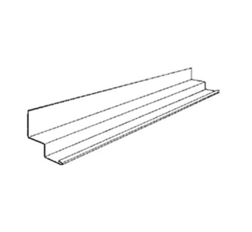 10 ft x 3/4 in x 3/4 in x 3/4 in x 3/4 in Chicago Metallic Shadow Molding / White - 1461.01