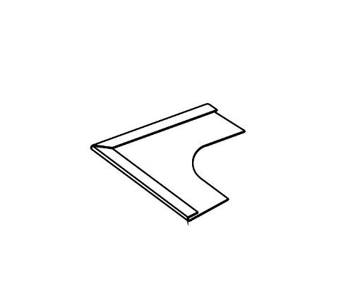 Armstrong Bullnose Corner Cover / White - 7866