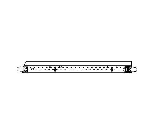 1 1/2 in x 27 in Armstrong Grid Adapter / White - GA7327