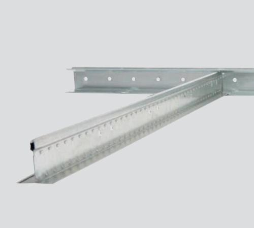 12 ft x 1 3/4 in x 1 9/16 in CertainTeed QuickSpan Locking Drywall Grid System Locking Channel - QSLC12-14-20