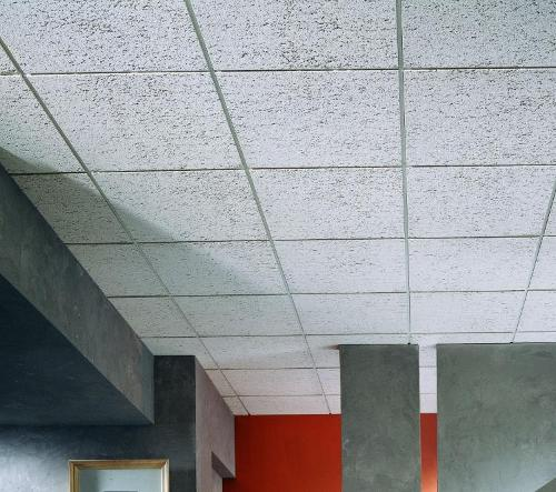 3/4 in x 2 ft x 4 ft USG F Fissured Basic Acoustical Square Edge Panel / White - 135