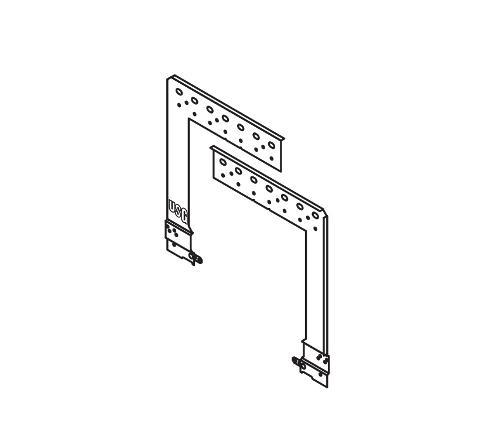4 in - 6 in USG Logix Integrated Suspension Systems Universal 2-Piece Yoke - LGXUNVYK