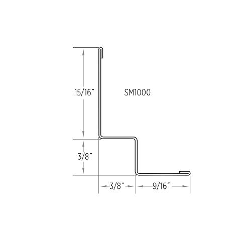 10 ft x 15/16 in x 3/8 in x 3/8 in x 9/16 in CertainTeed Shadow Molding Wall Angle / White - SM1000