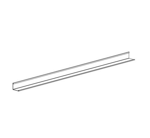 12 ft x 9/16 in x 15/16 in Chicago Metallic Wall Angle / White - 1480.01