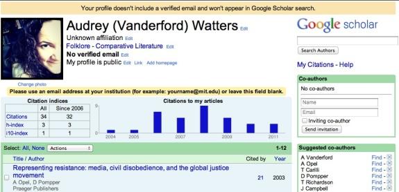 My Struggles With Google Scholar Citations