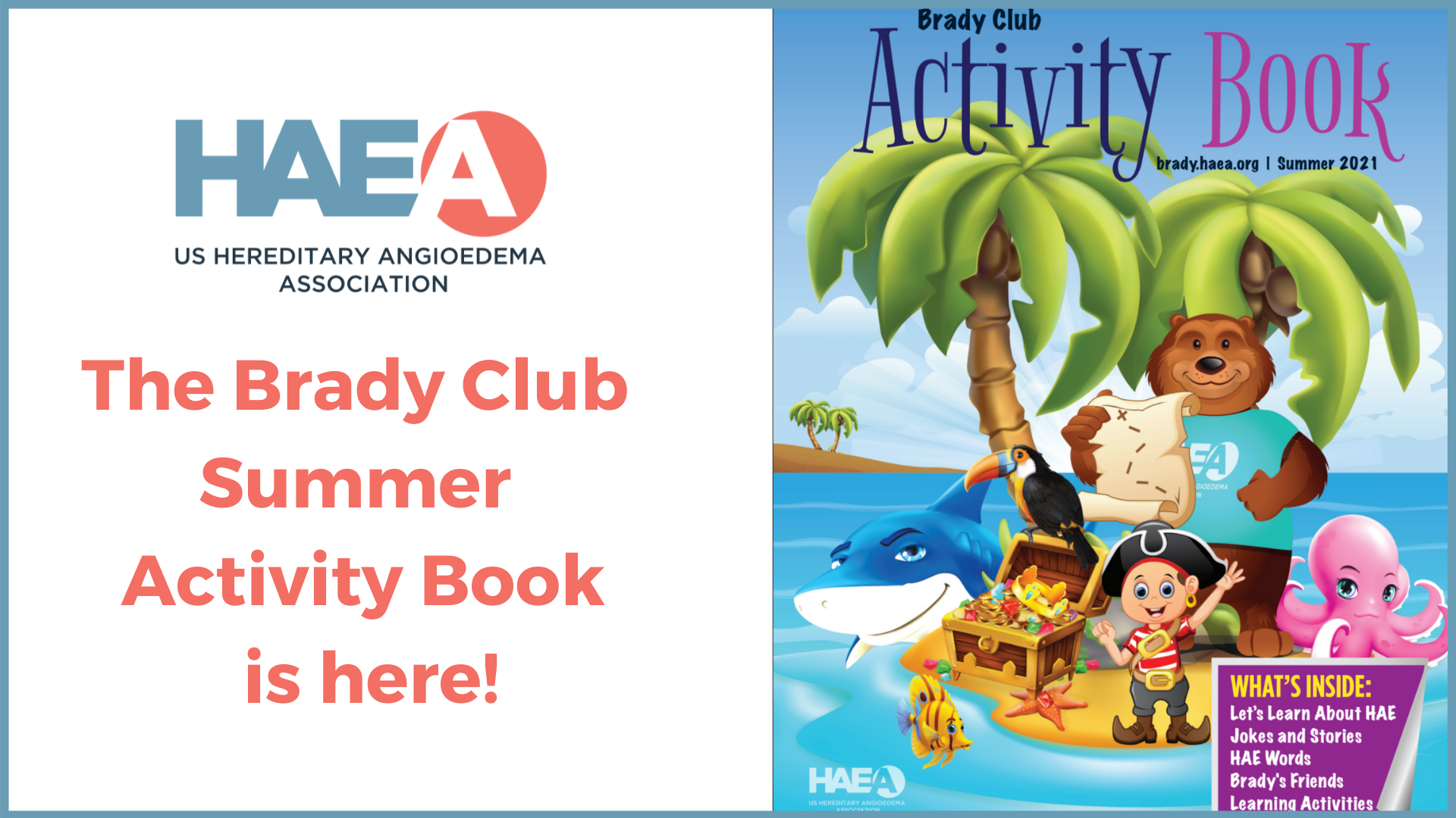 The Brady Club Summer Activity Book is HERE!