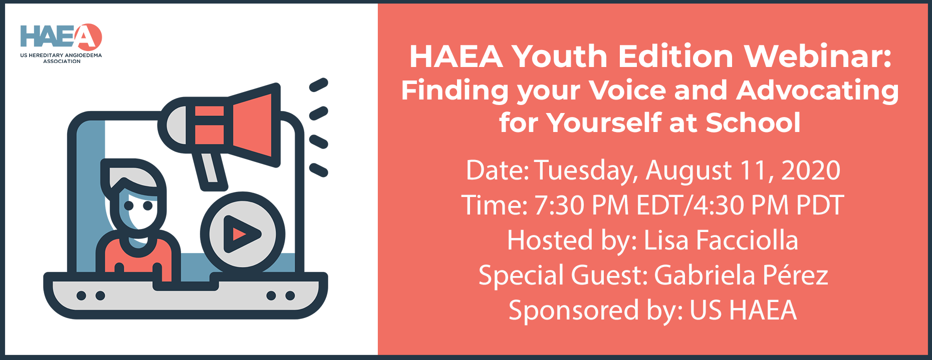 HAEA Youth Edition Webinar: Finding your Voice and Advocating for Yourself at School