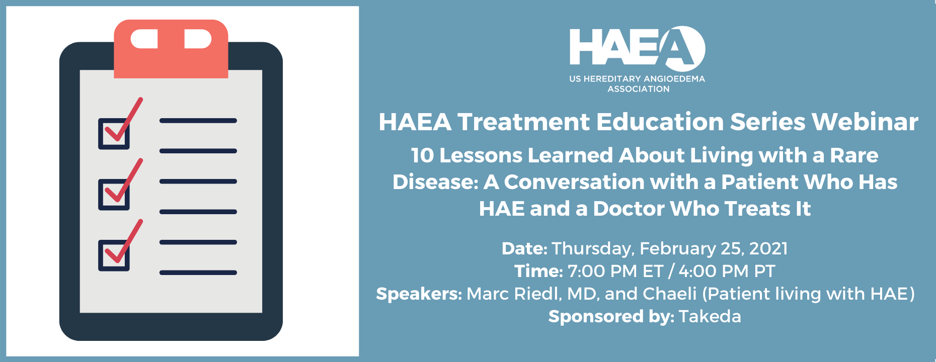 HAEA Treatment Education Series Webinar