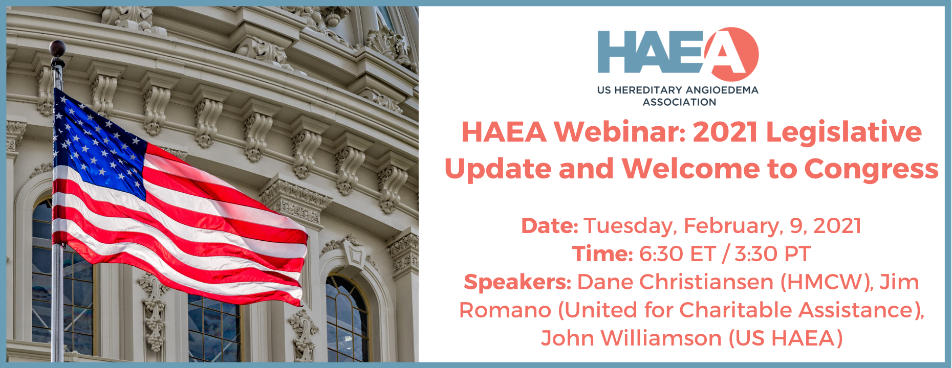 2021 HAEA Legislative Grassroots Advocacy: Join in to protect the rights of people with HAE