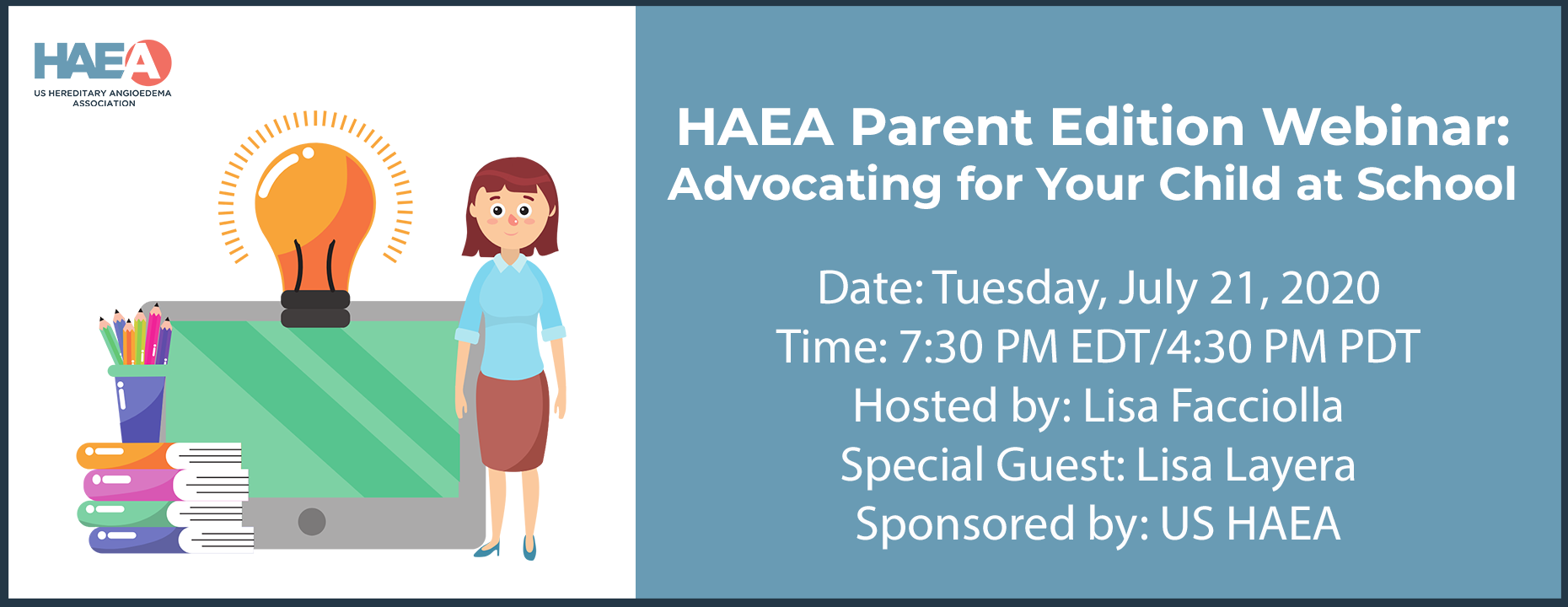HAEA Parent Edition Webinar: Advocating for Your Child at School
