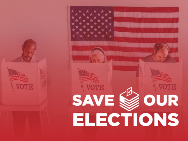 Save Our Elections Web Banner