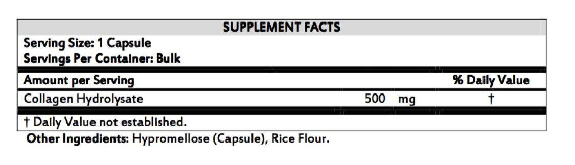 Collagen Booster - Ingredients