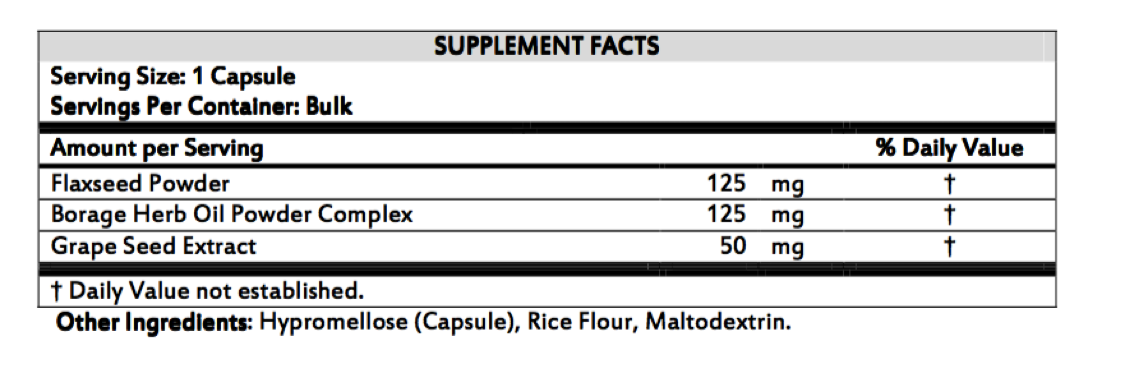 Essential Fatty Acid Booster - Supplement Facts
