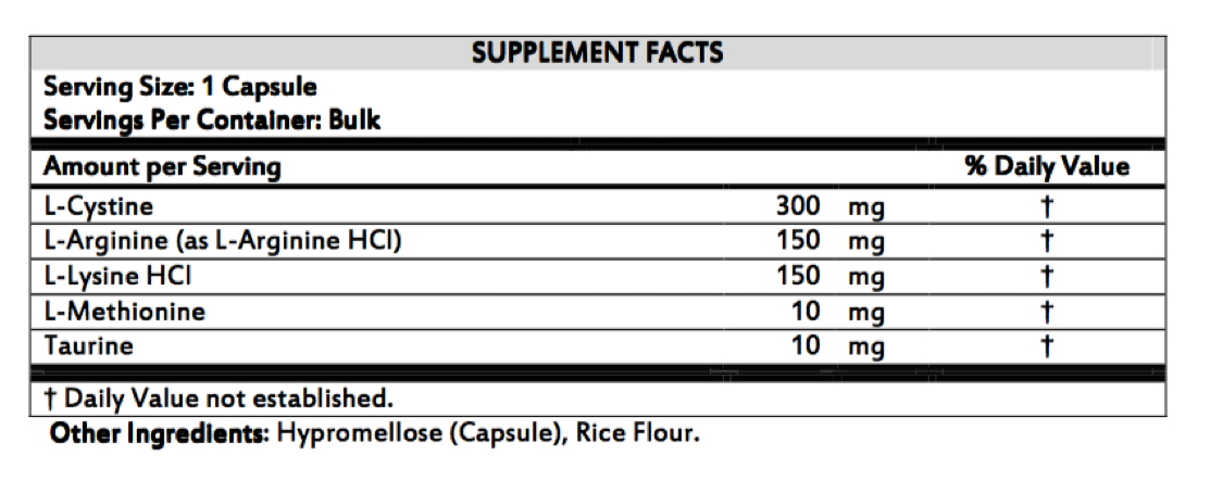 Amino Acid Booster - Ingredients