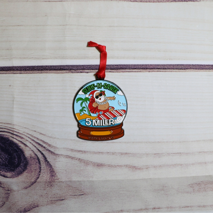 Surf-n-Santa Ornament