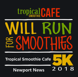 Tropical Smoothie 5K & Jr Smoothie 1 Mile - Newport News