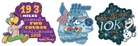 Disney Two Course Challenge | Logo Pin Bundle