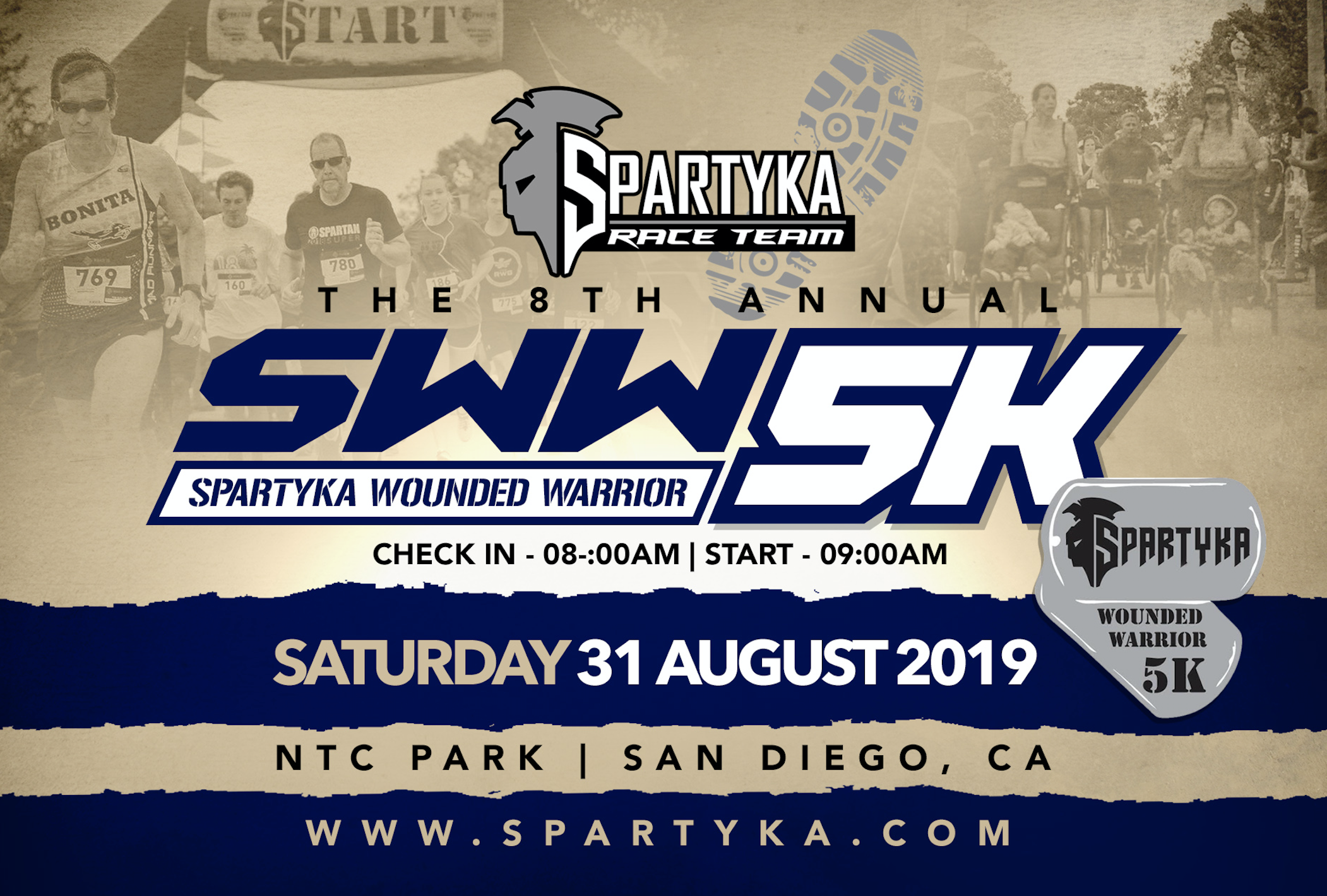 8th Annual Spartyka Wounded Warrior 5K San Diego