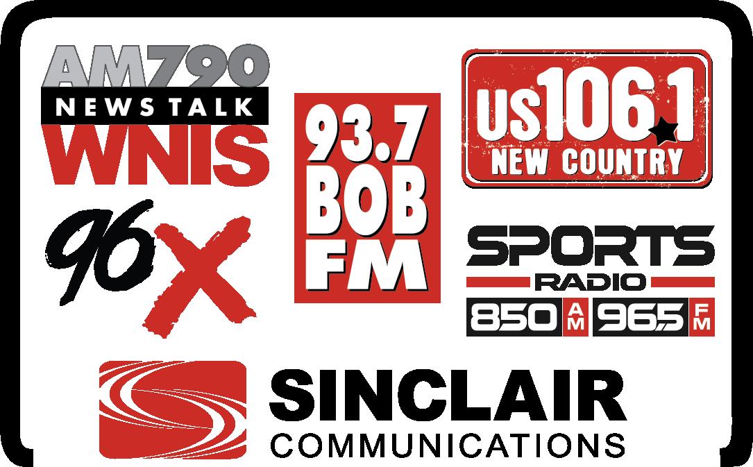 US1061, 937 BOB FM, and 96X Logo
