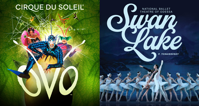 Save on Tickets to Cirque du Soleil OVO and Swan Lake!