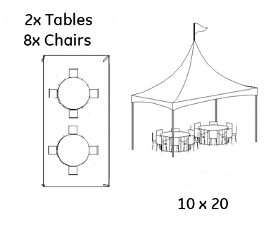 20 x 10 Tent Rental