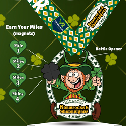 SHAMROCKS & SHENANIGANS VIRTUAL 4 MILER logo