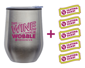 Silver Sippy Cup + 5 FREE Tasting Tickets