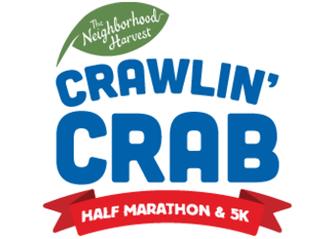 VOLUNTEERS: 2019 Neighborhood Harvest Crawlin' Crab Half Marathon and 5K logo