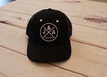 J&A Racing Black Trucker Hat